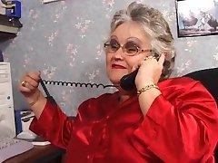 BBW granny sucks and fucks in stockings