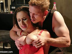 When a struggling actress looses her lead role in a B-horror flick, she goes to desperate measures to get it back. All natural, big tit Ashley Adams is just 18 years old but has a crazy appetite for rough sex. She tries to bribe the sleazy Director with sloppy blowjob, but he wants more and tells her if she wants to work in this town, she's going to have to do more that just suck dick. When Ashley goes to his hotel room to try harder for the part, she is met with brutal domination, tight bondage and hardcore fucking.