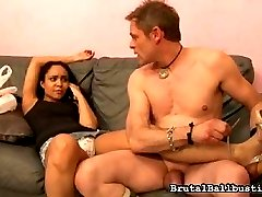 Jaslin Diaz has been waiting for her food delivery for a long time. He finally shows up, naked,...