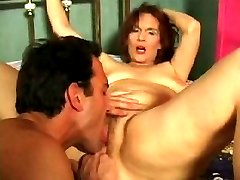 Mature redhead spreads to get her pussy eaten