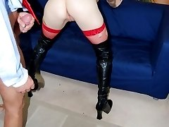 Pale British girl pounded