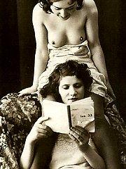 Sexy vintage girls posing