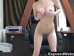 Teen Webcam Show at the Office