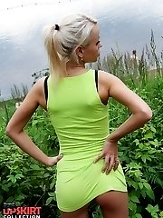Girl outdoor bare off hot upskirts