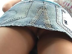 Girls wearing really tiny thong up skirt
