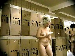 Busty queens accidentally undress in locker rooms