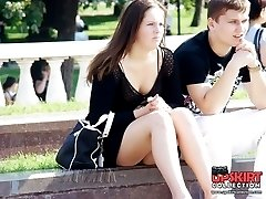 Exciting voyeur upskirt compilation