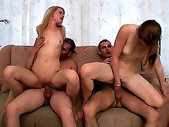 Cute girls bound on dicks