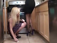Maid worship lesbian feet