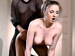 19yo coed gets fuck from strap on