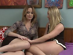 Angela Sommers seducing AJ Applegate