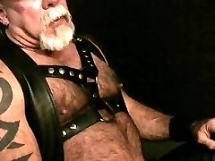 Leather Daddy Jerk Off
