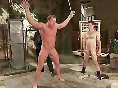 Muscled guy strung and hung gay BDSM part4