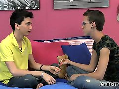 Cute twinks alone at home