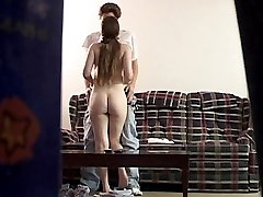 Teen hot petite amateur is caught having sex on a hiddem cam