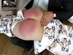 Hot chubby ass strapped and beaten