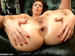 Two gorgeous girls, Casey Calvert and Ariel X, love intense anal play and go deep inside each others asses in this very sexy update!  We get hot and passionate interaction with spanking and ass licking.  Large toys are used to open wide and stretch their holes for maximum stimulation.  Both beautiful girls take a fist wrist deep making them orgasm and squirt!  They each take a turn fucking the other with a big fat strap-on cock and a final enema scene has Casey and Ariel expelling clean water at the same time.
