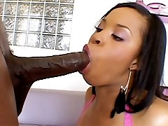 Black slut Aryana Starr rides Lexington Steeles big fat cock