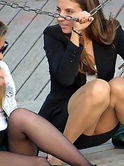 Girls pantyhose very nice upskirts