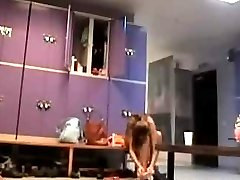 Hidden spy camera capture nude sexy babes changing in the locker room