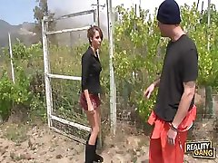 Outdoor Sex With Awesome Brunette Babe