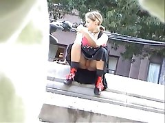 Voyeur 6 chubby girl upskirt by the sideway (MrNo)