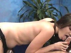 Massage beauty strips demonstrating her excellent butt