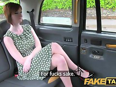 FakeTaxi Horny redhead tempts driver with sex