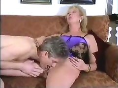 Pierced Shaved Mature Fucked On Couch With Facial Cumshot