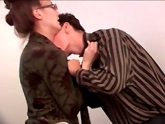 Young employee fucked ugly elderly secretary in the office