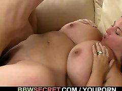 She leaves and he fucks huge titted hottie
