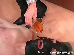Kinky brunette with huge boobies plays part3