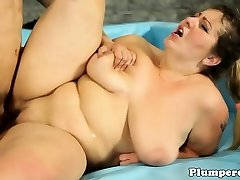 Mature brunette bbw having her pussy speared