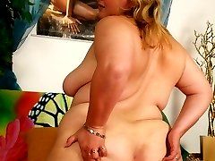 Reidi loves to have her big belly fucked and covered with cum