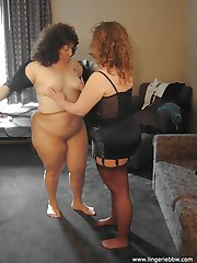 Pantyhose and nylons BBW lesbians