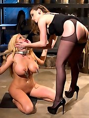 I don\'t know about you but there is nothing I like more than destroying a beautiful blonde bombshell! Summer Brielle is not only hot but she genuinely loves BDSM, it makes her insanely horny! Watch this gorgeous woman suffer beautifully at the hands of Chanel Preston and see her pussy get off from the punishment!
