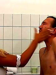 Lucy tortures her pee slave