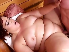 Freaky shemale talking shy beach guy into ass-pounding right on the lounge