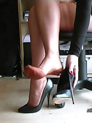 When you have a shoe fetish, the sight of a lady's high heel will stun you! And then as it brings you under it's spell like a magnetic attraction you find it affecting you, making you hard as you get ready for Toni