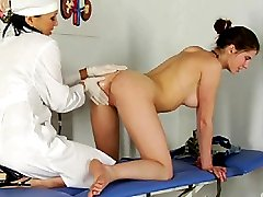 Gyno doctor and patient licking and cumming