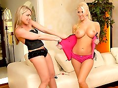 Amazing fucking big tits molly and her sexy lingerie lesbian play bar darts naked then get...