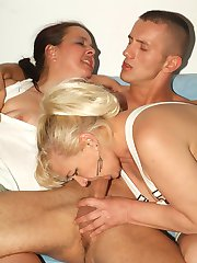 Horny matures Elizabeth and Juliana go for a raunchy threesome and experienced hardcore fucking