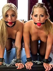 Aiden Starr punishes, trains and ass fucks two hot little blondes into submission for her entertainment. Carter Cruise\'s multiple orgasms are deeply intensified by sexy lesbian sex and BDSM.