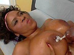cute black slut with titanic breasts