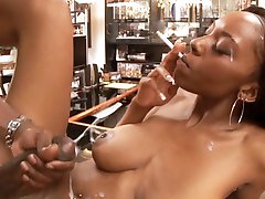 Black bitch fucked by a huge black monster cock