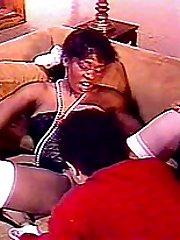 Black lady sucking his cock