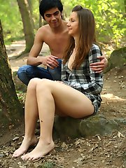 A walk through the woods is perfect excuse for Filip and Klara to get away from their home to a more private environment and to go all out on each other, something they�ve been itching to do.