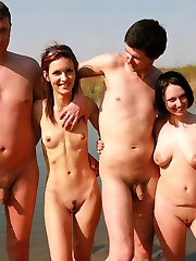 Husbands exchanging their married women in wacky mate-swapper gang bang