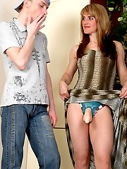 Vivacious chick invites her friend itching for wild strap-on entertainment