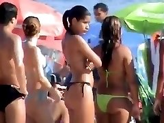 Very hot brazilian girl at the beach